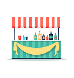 Colorful beverage booth icon vector