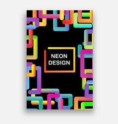 colorful with neon colors futuristic vector image