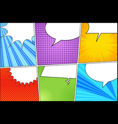 Comic colorful template vector
