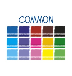 Common Color Tone vector
