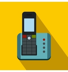 Cordless phone icon flat style vector