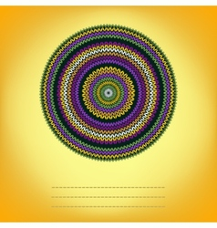Cover Background with Ornamental Round Knitted vector