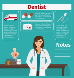 Dentist and medical equipment icons vector