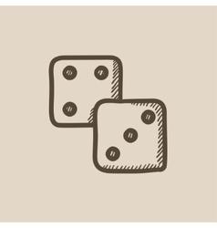 Dice sketch icon vector image