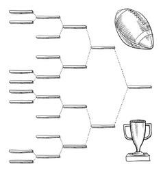 doodle sports bracket nfl vector image