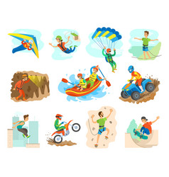 extreme sport active lifestyle of people vector image