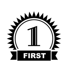 First place icon simple style vector