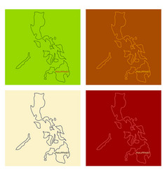 flag map of philippines vector image