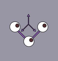 Flat icon design collection molecule and arrows vector