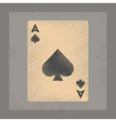Flat shading style icon playing cards vector