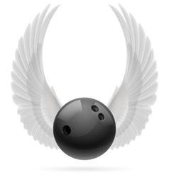 Flying ball vector image