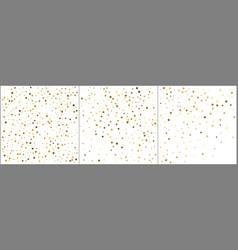 gold star confetti celebration backgrounds golden vector image