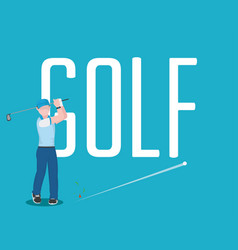 golf player avatar concept vector image