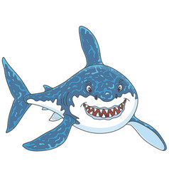 great white shark attacking vector image