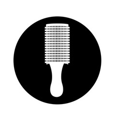 Hair brush isolated icon vector