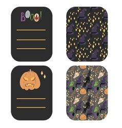 Happy Halloween greetings and invitation cards vector