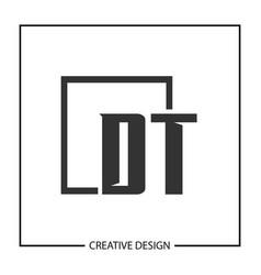 initial letter dt logo template design vector image