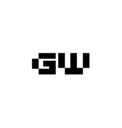 initials logo for letter gw is attractive vector image