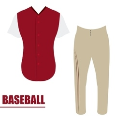 Isolated baseball uniform vector