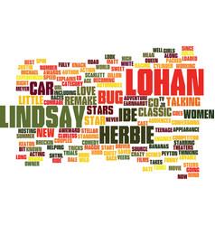 Lindsay lohan to star in herbie the love bug vector