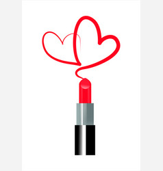 Love of makeup vector