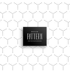 minimal subtle hexagonal dots pattern background vector image