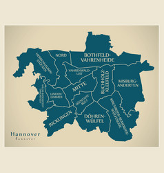 Modern city map - hannover city of germany with vector