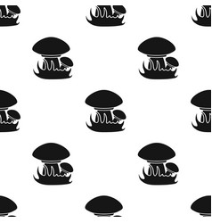 Mushroomes icon in black style isolated on white vector