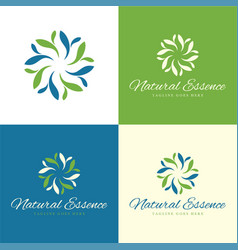Natural essence logo and icon vector