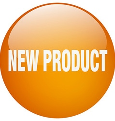 New product orange round gel isolated push button vector