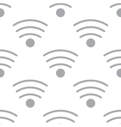 New Wi-fi seamless pattern vector image