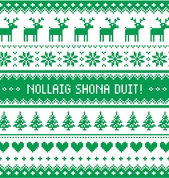 Nollaig Shona Duit - Merry Christmas in Irish vector image