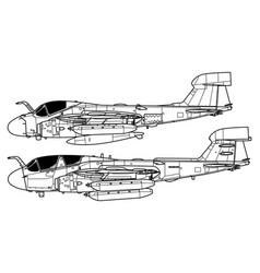 Northrop grumman ea-6 prowler vector