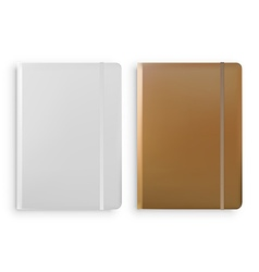 Notebook Templates Isolated on White Background vector image