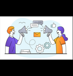 online messaging concept vector image