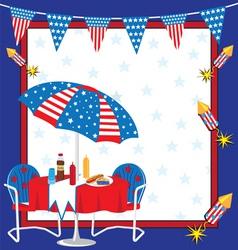patriotic picnic vector image