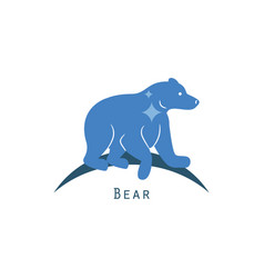Polar bear logo concept vector