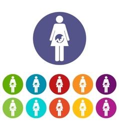 Pregnancy flat icon vector image