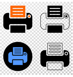 printer eps icon with contour version vector image