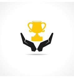 Protect trophy concept vector