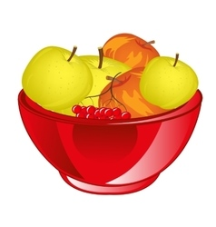 Red apple chalice vector image