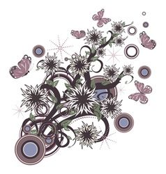 Retro floral ornament vector image