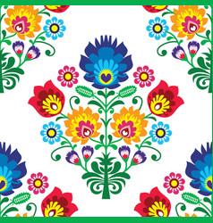 Seamless folk art pattern - polish traditio vector