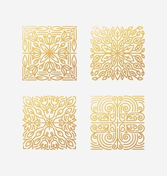 set of abstract square emblems vector image