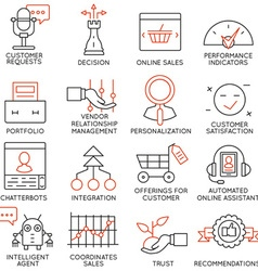 Set of icons related to business management - 15 vector image