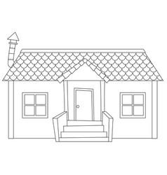 Simple modern house outline vector