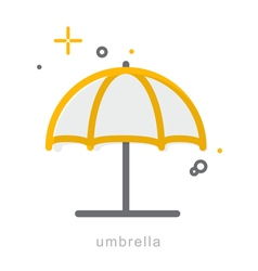 Thin line icons Umbrella vector