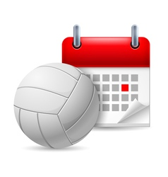 Volleyball and calendar vector