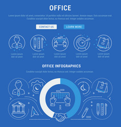 website banner and landing page office vector image
