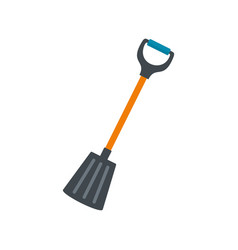 winter spade icon flat style vector image